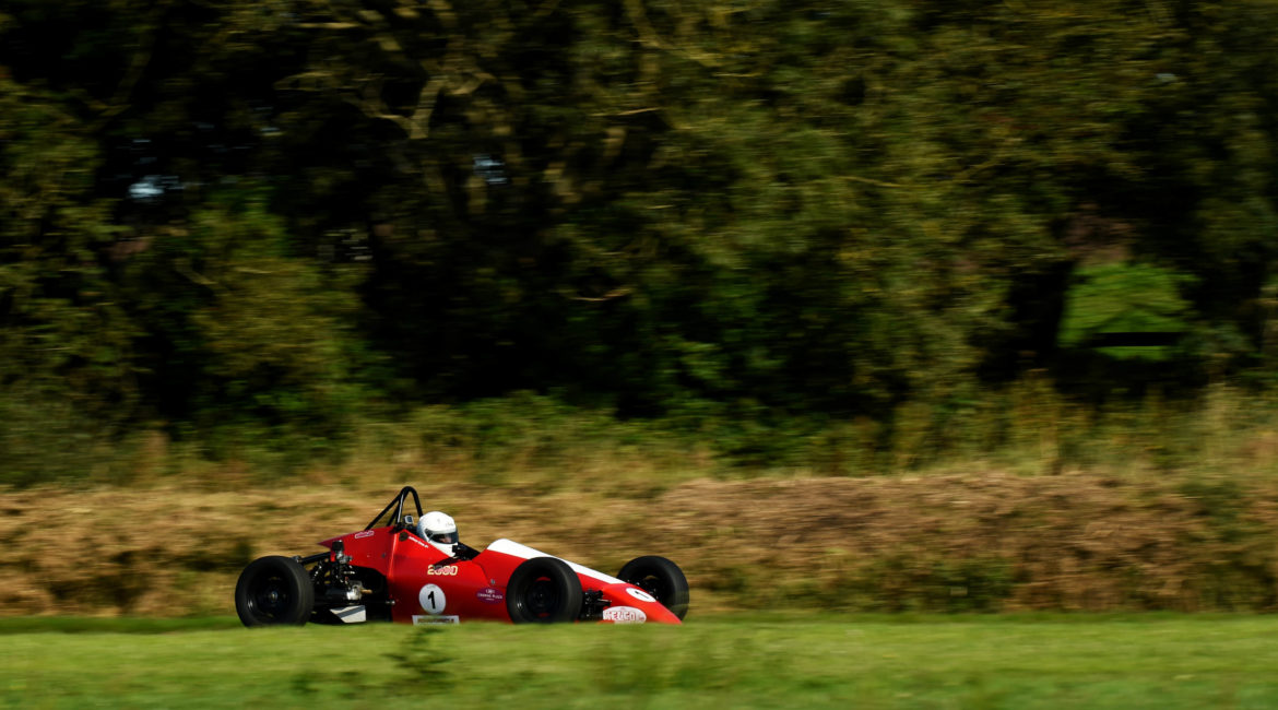 28-September 2019; Anthony Cross, Sheane, on his way to winning Formula Vee race one. 500 Motor Racing Club of Ireland car races, Kirkistown. Co. Down. Photo: Barry Cregg